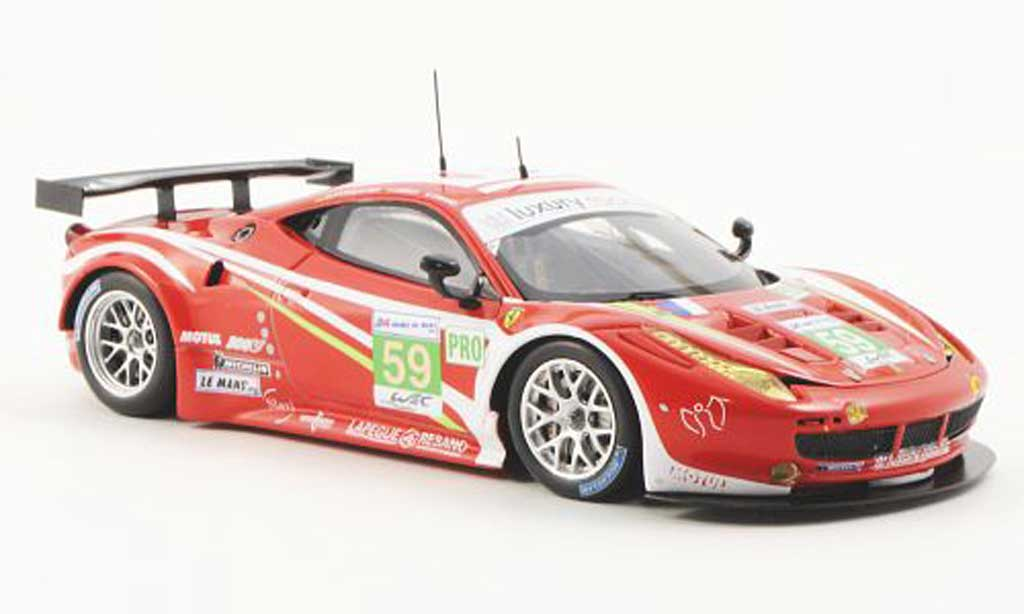 Ferrari 458 Italia GT2 1/43 Fujimi No.59 Luxury Racing  24h Le Mans 2012 miniature