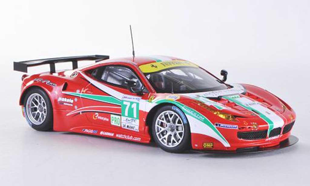 Ferrari 458 Italia GT2 1/43 Fujimi No.71  AF Corse 24h Le Mans 2012 miniatura