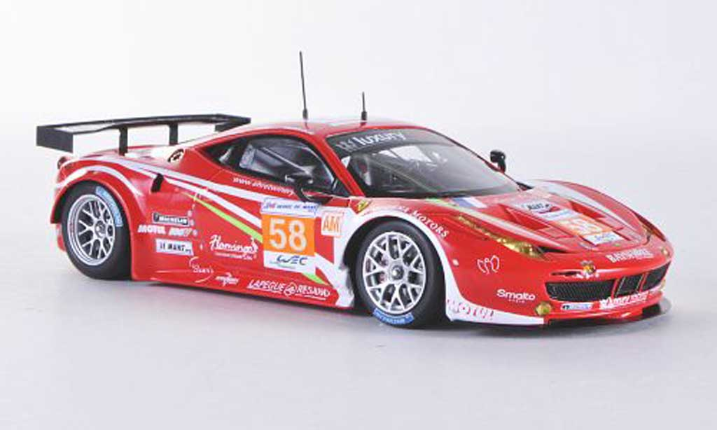 Ferrari 458 Italia GT2 1/43 Fujimi No.58 Luxury Racing 24h Le Mans 2012