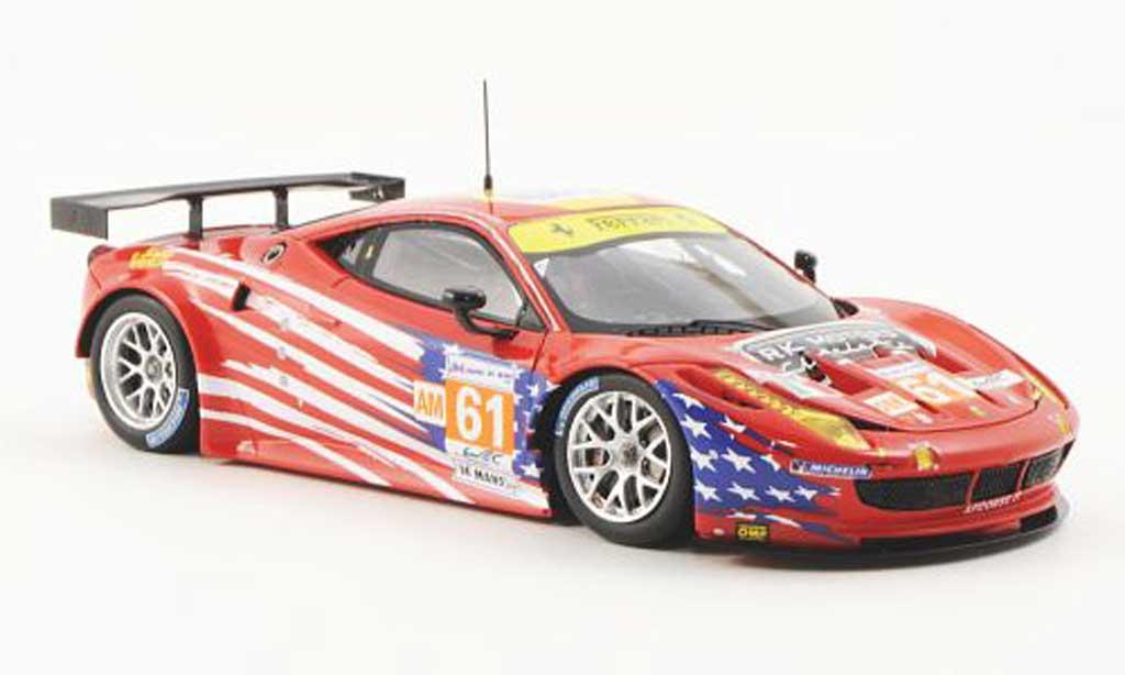 Ferrari 458 Italia GT2 1/43 Fujimi No.61 AF Corse-Waltrip 24h Le Mans 2012 miniature