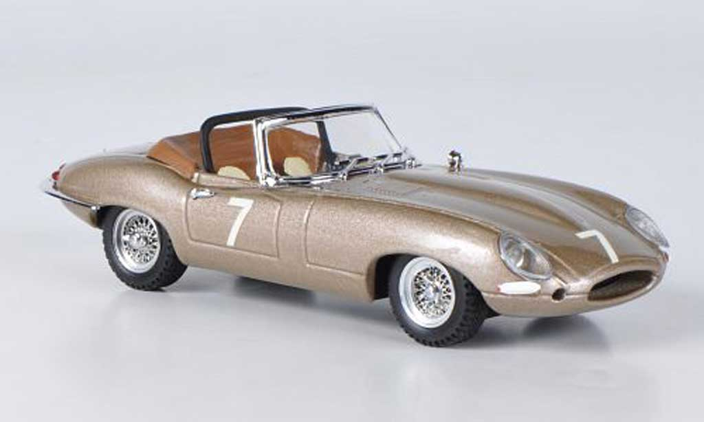 Jaguar E-Type 1961 1/43 Best 1961 E Spyder No.7 Del Mar USA miniature
