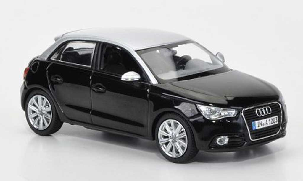 audi a1 miniature sportback noire grise 2012 kyosho 1 43 voiture. Black Bedroom Furniture Sets. Home Design Ideas