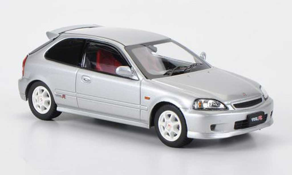 Honda Civic Type R EK9 1/43 Ebbro grise miniature