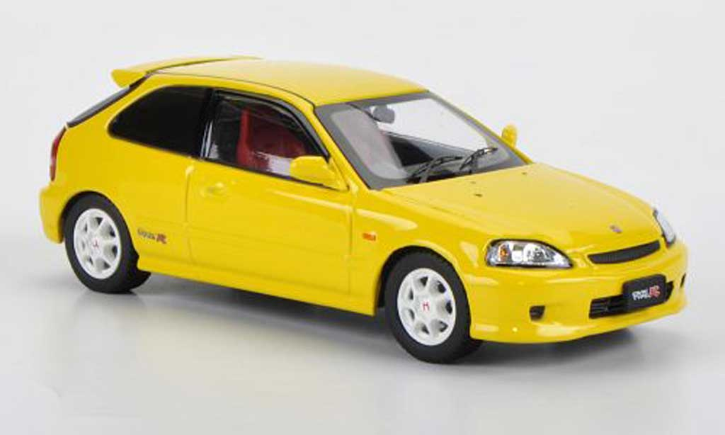 Honda Civic Type R EK9 1/43 Ebbro jaune miniature