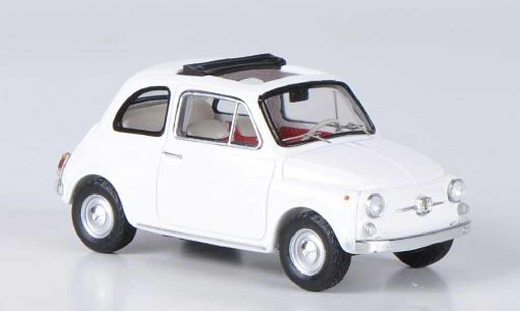 fiat 500 miniature f blanche 1965 ebbro 1 43 voiture. Black Bedroom Furniture Sets. Home Design Ideas