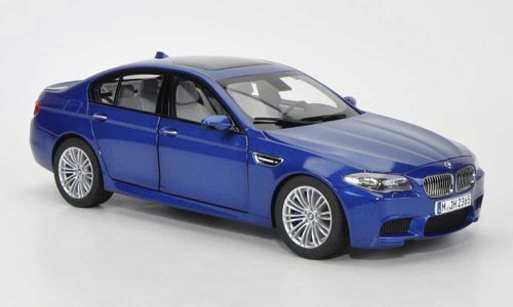 bmw m5 f10 miniature bleu 2012 paragon 1 18 voiture. Black Bedroom Furniture Sets. Home Design Ideas