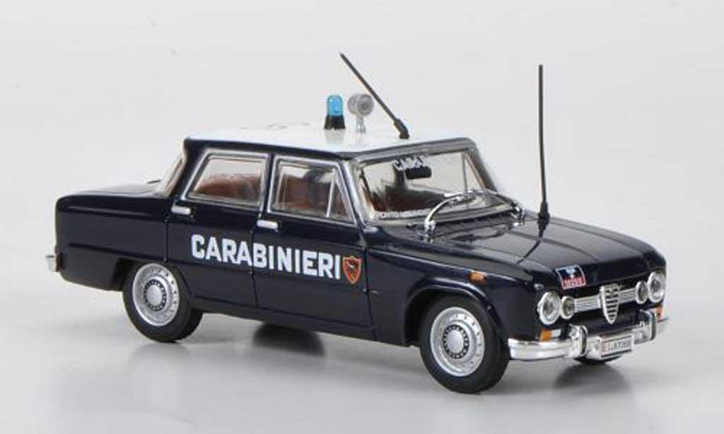 Alfa Romeo Giulia 1600 Super Carabinieri 1970 Hachette. Alfa Romeo Giulia 1600 Super Carabinieri 1970 Police miniature 1/43