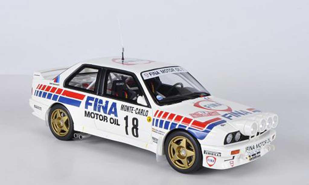 Miniature Bmw M3 E30 Gr.ANo.18FinaM.Duez / A.LopesRally Monte Carlo 1989 Ottomobile. Bmw M3 E30 Gr.ANo.18FinaM.Duez / A.LopesRally Monte Carlo 1989 Rallye miniature 1/18