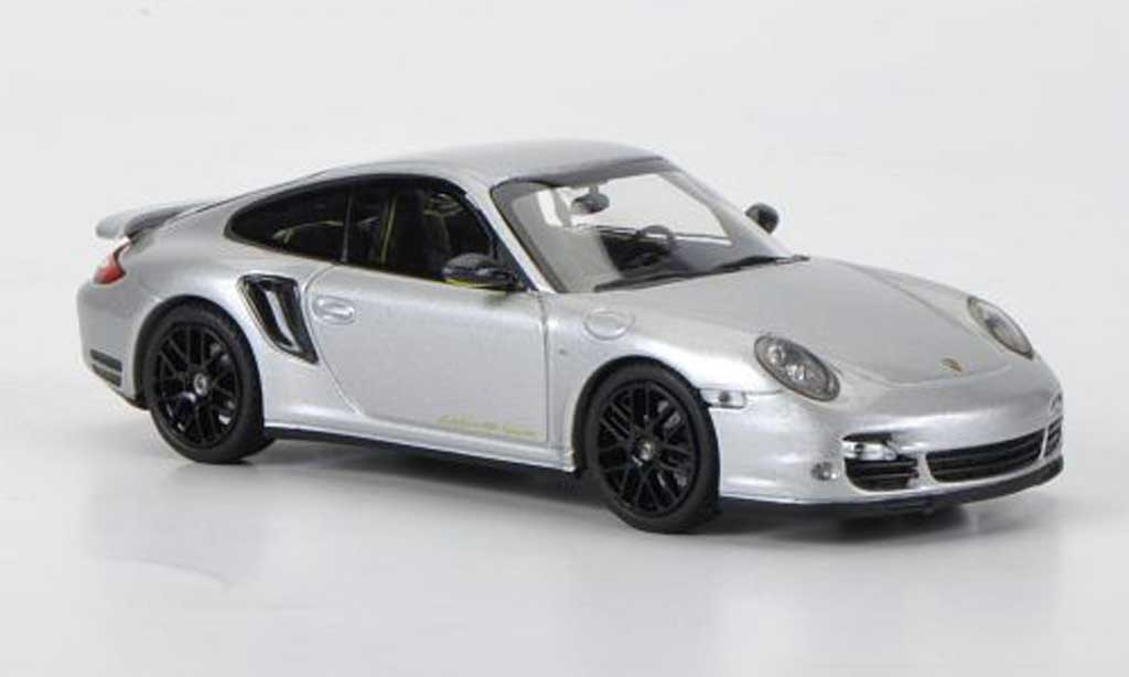 Porsche 997 Turbo S 1/43 Minichamps ''Edition 918 Spyder'' grise miniature
