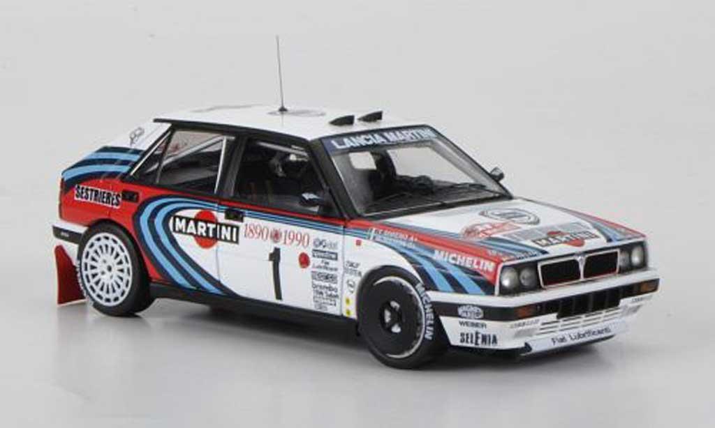 Lancia Delta HF Integrale 1/43 HPI 16V No.1 Martini M.Biasion / T.Siviero Rally Monte Carlo 1990 miniature