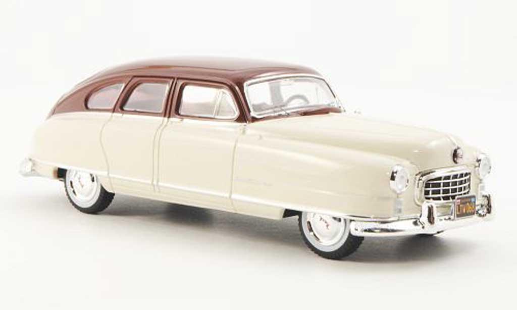 Nash Ambassador 1/43 Premium X 2-farbig beige/rot 1950 modellautos