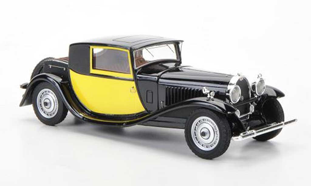Bugatti 46 1/43 Luxcar Coupe Fiacre noire/jaune 1929 miniature