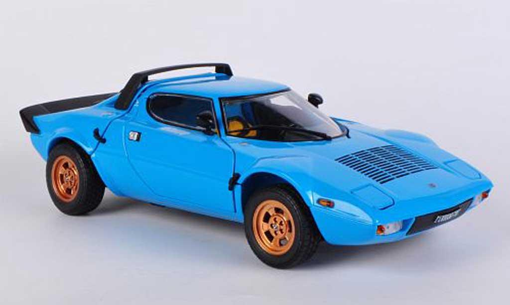 Lancia Stratos 1/18 Sun Star bleu 1975 miniature