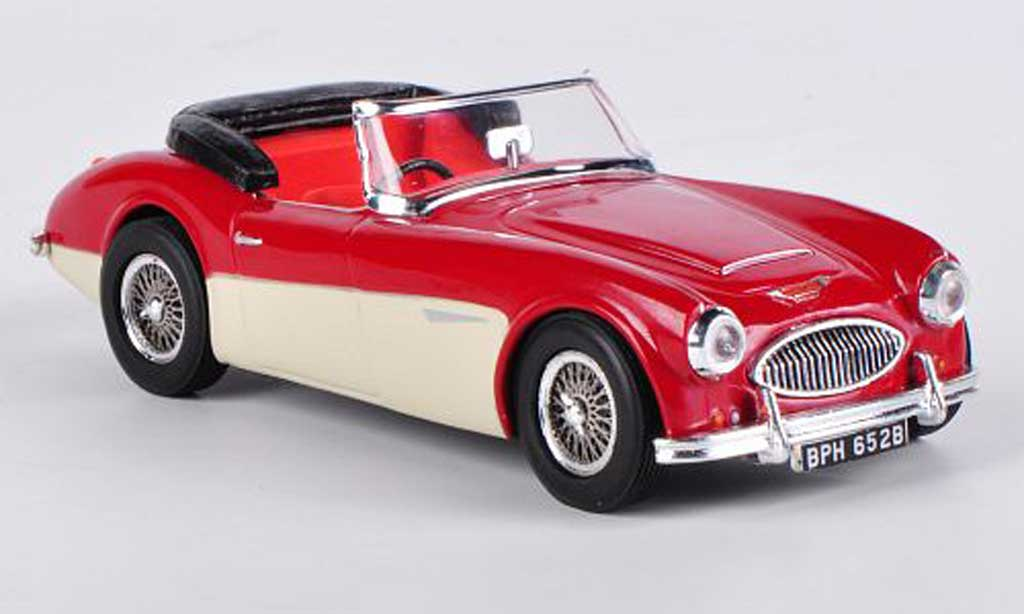 austin healey 3000 miniature offen tartan rouge ivory vitesse 1 43 voiture. Black Bedroom Furniture Sets. Home Design Ideas