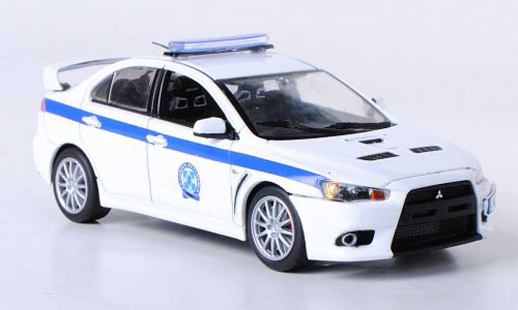 mitsubishi lancer evolution x polizei griechenland vitesse modellauto 1 43 kaufen verkauf. Black Bedroom Furniture Sets. Home Design Ideas