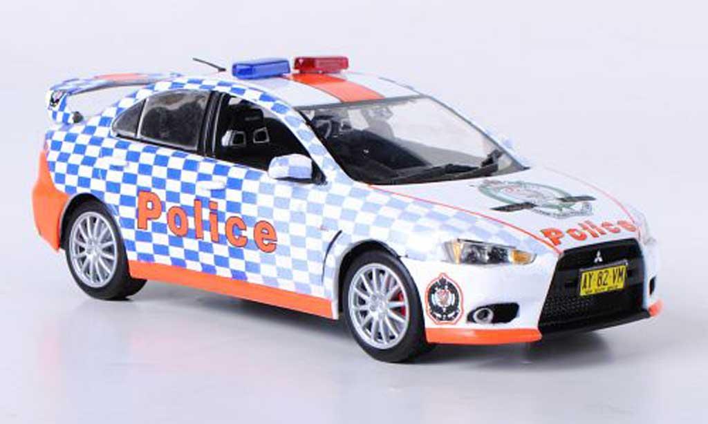 mitsubishi lancer evolution x miniature polizei australien vitesse 1 43 voiture. Black Bedroom Furniture Sets. Home Design Ideas