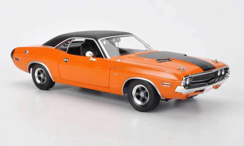 Dodge Challenger 1970 1/18 Greenlight R/T orange/matt noire Fast & Furious 2 miniature