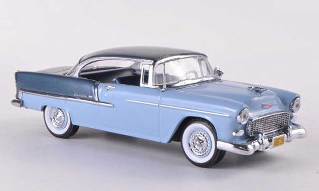 Chevrolet Bel Air 1955 1/43 Vitesse 2-Door Hardtop blue grey/blue grey diecast model cars