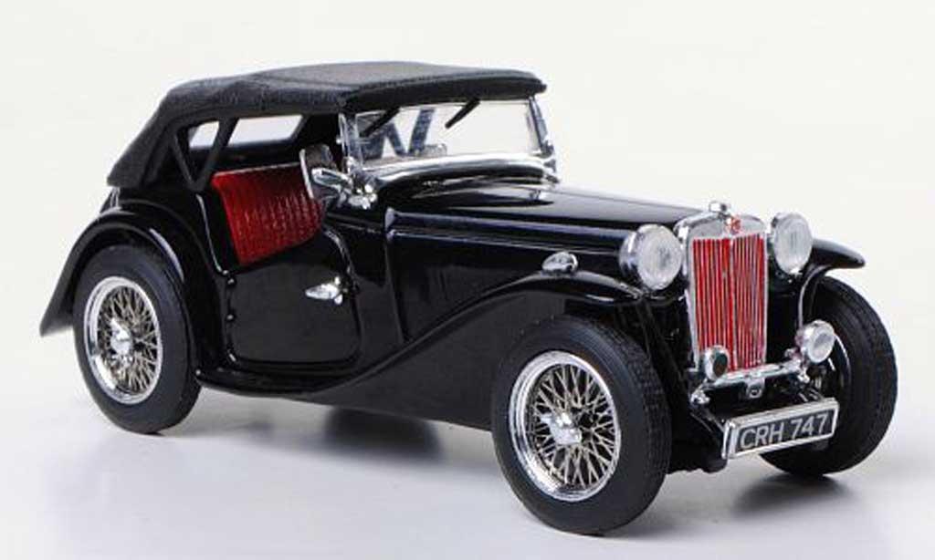 MG TC 1/43 Vitesse noire RHD miniature