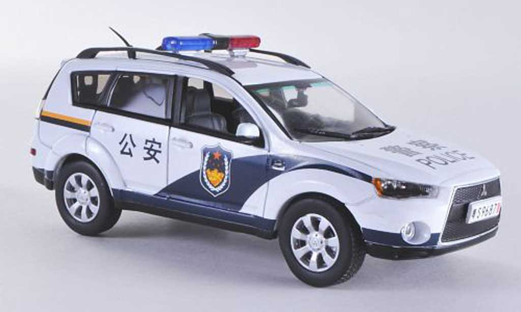 Mitsubishi Outlander Police Polizei China Vitesse. Mitsubishi Outlander Police Polizei China Police miniature 1/43