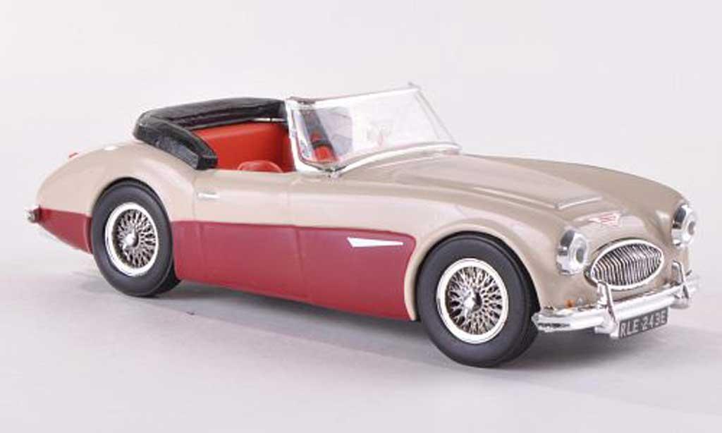Austin Healey 3000 1/43 Vitesse beige/rouge RHD Verdeck offen  miniature