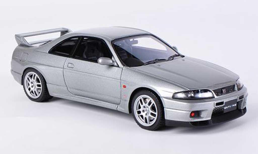 Nissan Skyline R33 1/43 HPI GT-R V-Spec grise RHD miniature