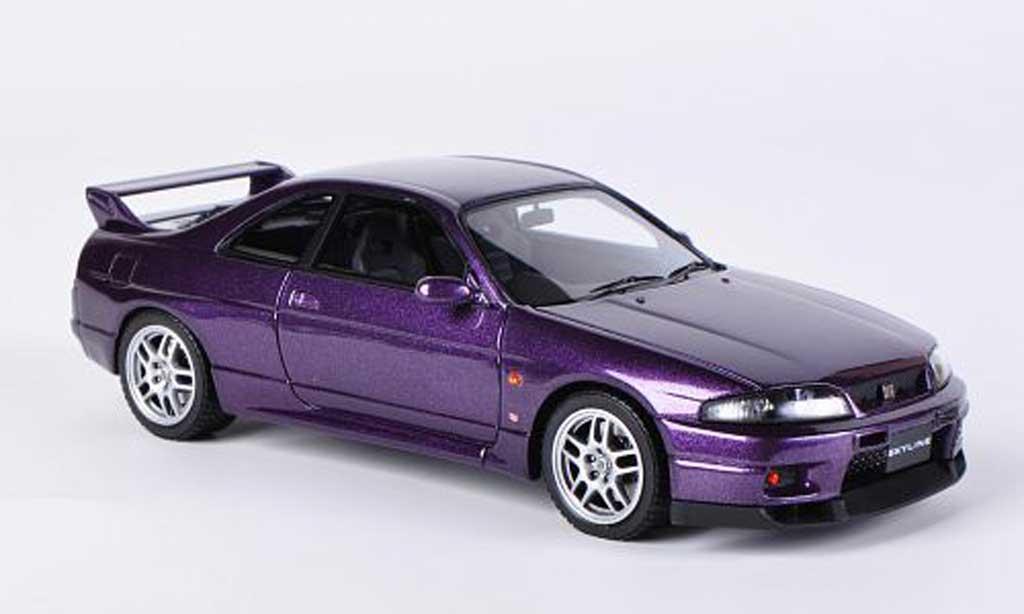 Nissan Skyline R33 1/43 HPI GT-R V-Spec lila RHD miniature