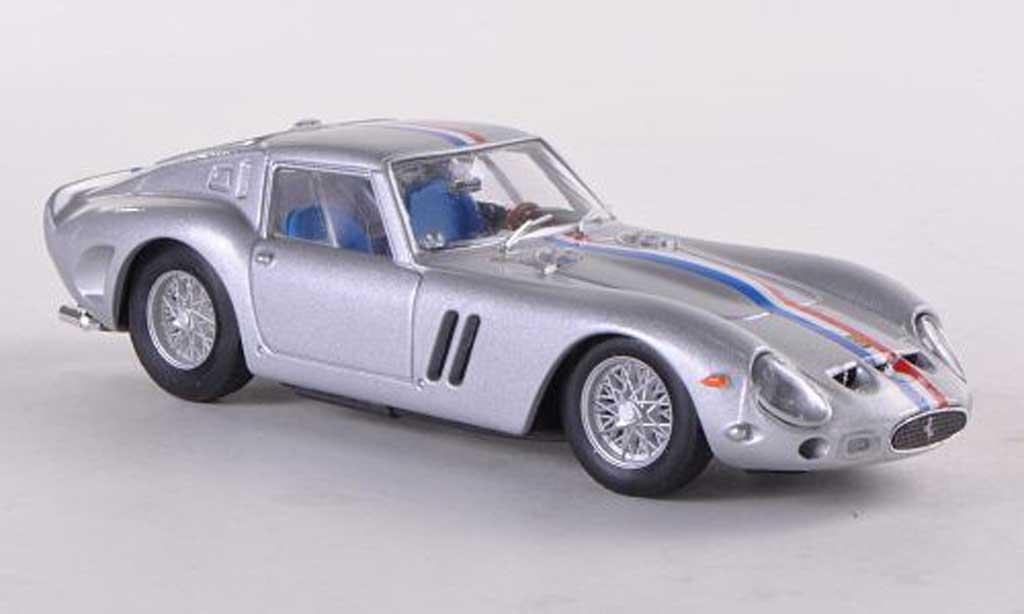 Ferrari 250 GTO 1963 1/43 Brumm grise(bleue-blanche-rouge-Streifen) miniature