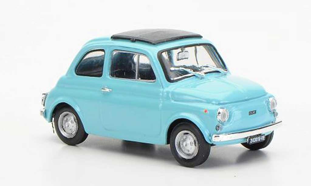Fiat 500 R 1/43 Brumm turquoise geschlossenes Faltdach 1972 diecast