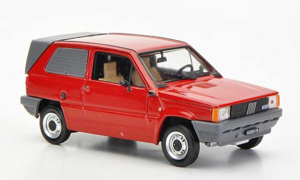 Fiat Panda 1/43 Brumm Van rouge Carozzeria Maggiora 1982 miniature