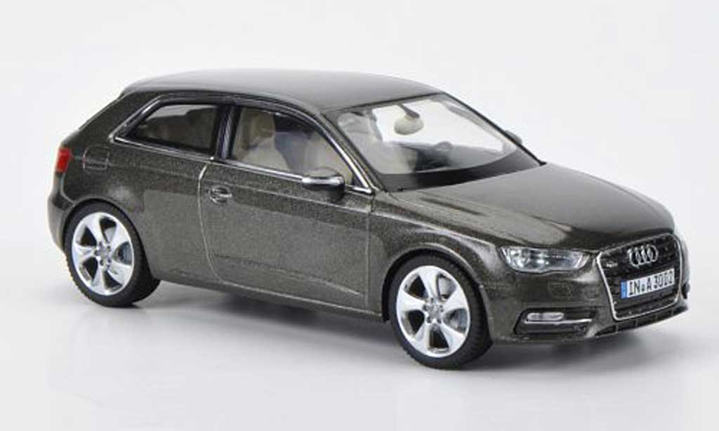 audi a3 miniature grise marron 2012 schuco 1 43 voiture. Black Bedroom Furniture Sets. Home Design Ideas