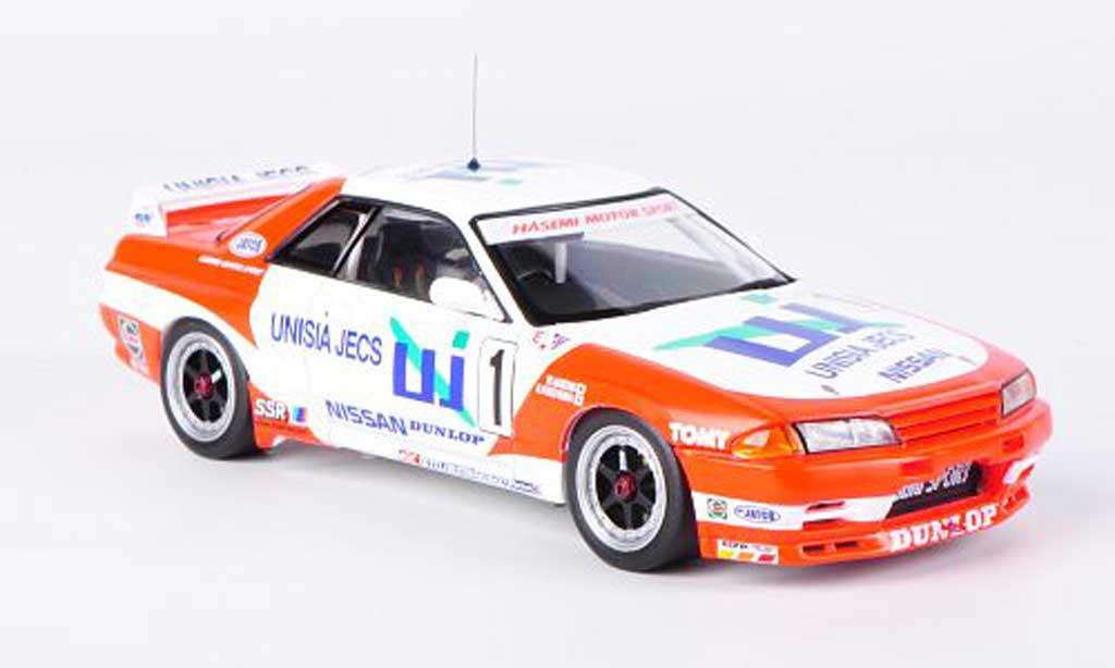 Nissan Skyline R32 1/43 HPI GT-R No.1 Unisia Jecs M.Hasemi / H.Fukuyama JTC Mine 1993 miniature