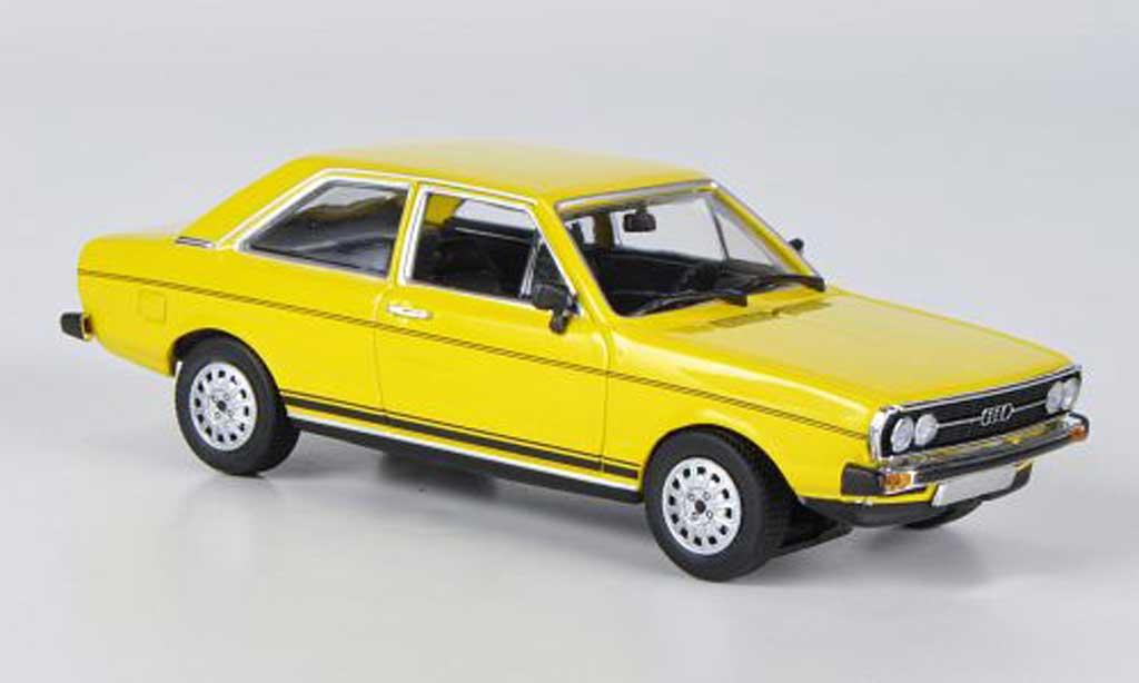 audi 80 gt yellow 1972 minichamps diecast model car 1 43. Black Bedroom Furniture Sets. Home Design Ideas