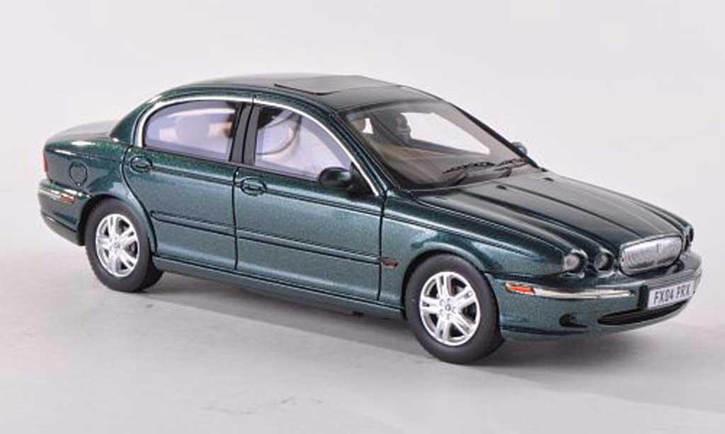 Jaguar X-Type 1/43 Premium X noire-vert RHD 2004 miniature
