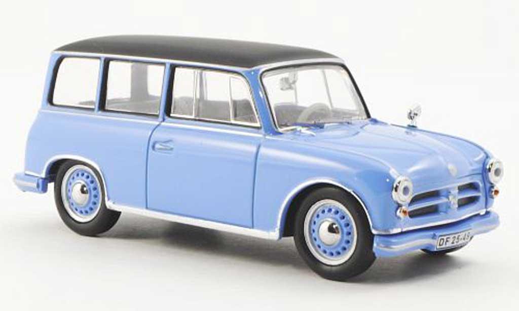 AWZ P70 1/43 IST Models bleu/noire 1957 miniature