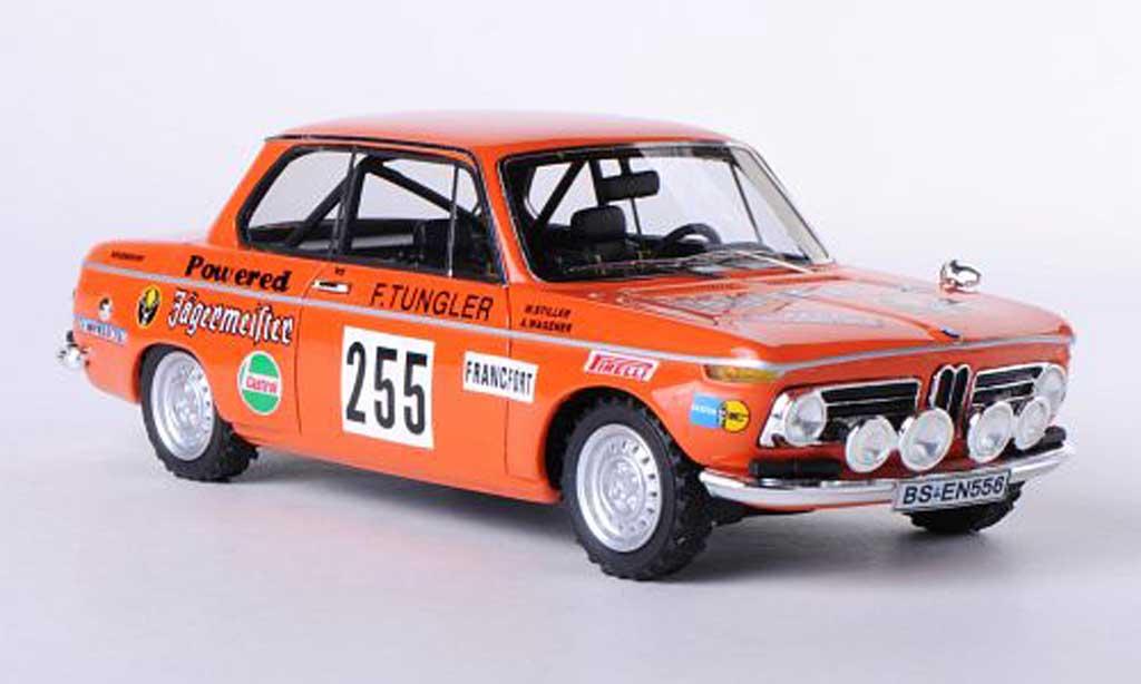 Bmw 2002 Ti 1/43 Neo No.255 Jegermeister W.Stiller / A.Wagener Rally Monte Carlo 1973 miniature