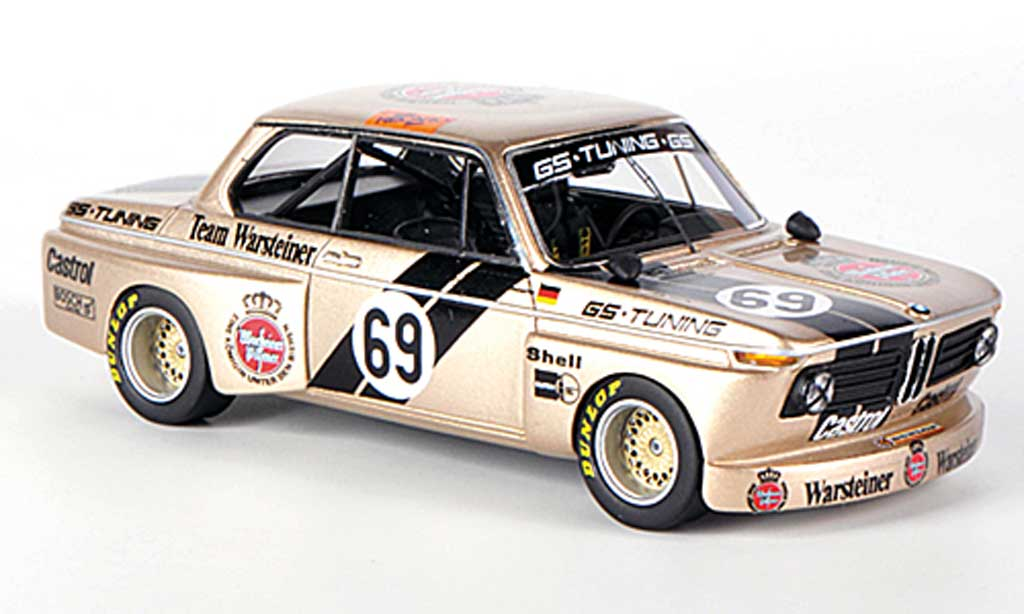 Bmw 2002 Tii 1/43 Neo No.69 Team Warsteiner GS-Tuning J.Obermoser DRM miniature