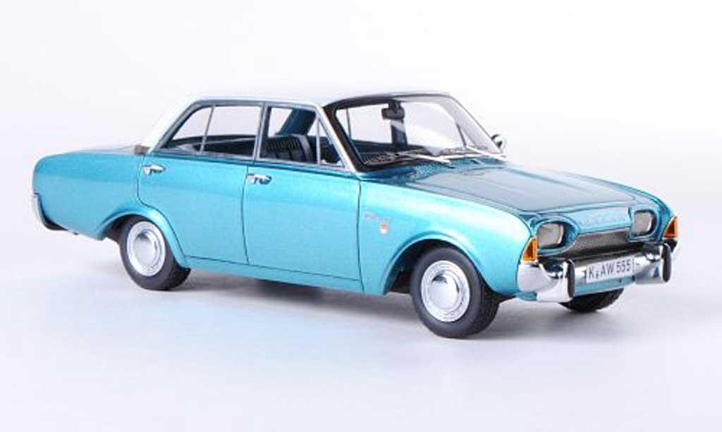 Ford Taunus 1960 1/43 Neo 17M (P3) bleu/blanche 4-Turer miniature
