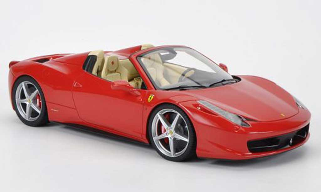 Ferrari 458 Italia Spider 1/18 MR Collection rouge Interieurfarbe: beige miniature