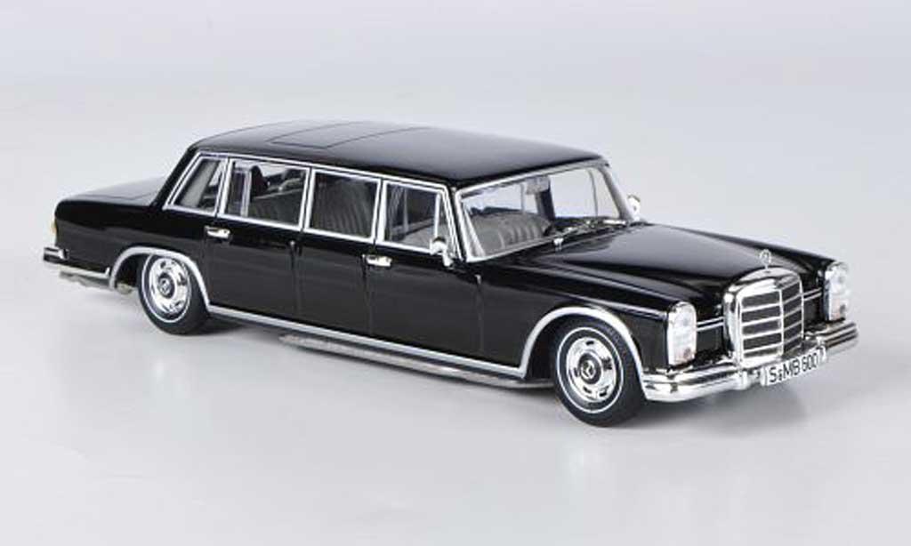Mercedes 600 1/43 WhiteBox Pullman noire 1963 miniature