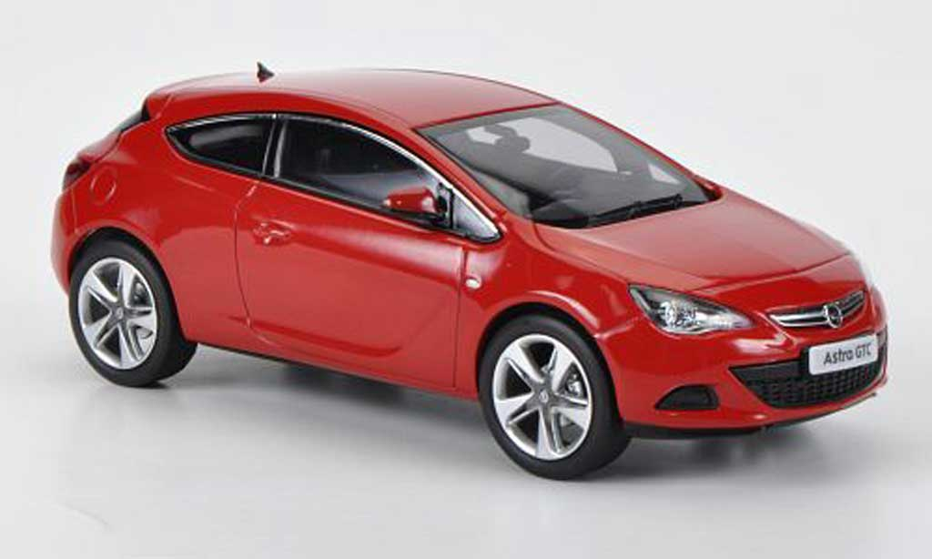 opel astra miniature j gtc rouge 2012 motorart 1 43 voiture. Black Bedroom Furniture Sets. Home Design Ideas