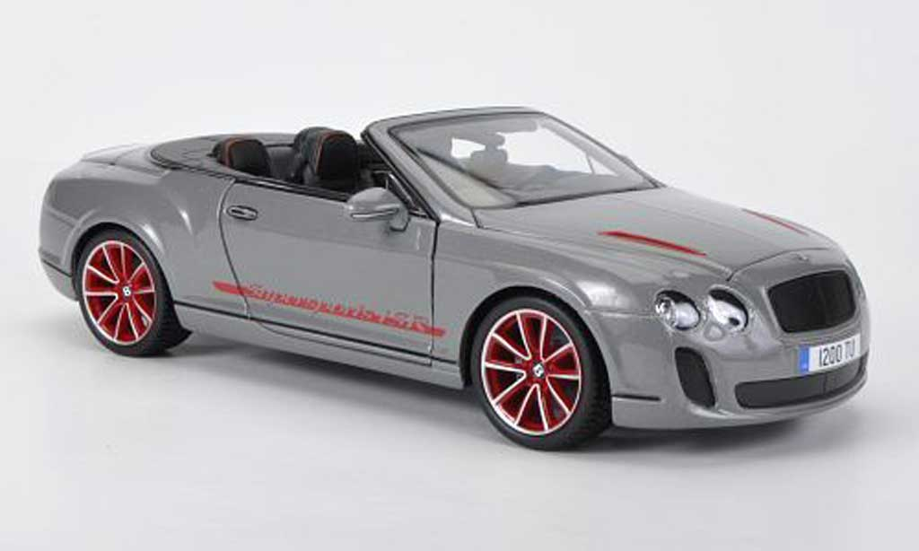 Bentley Continental Supersports 1/18 Burago Convertible ISR grey Sondermodell diecast model cars