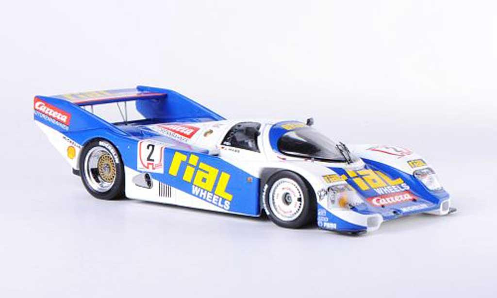 Porsche 962 1987 1/43 Spark C No.2 Rial/Carrera J.Mass Nurburgring miniature