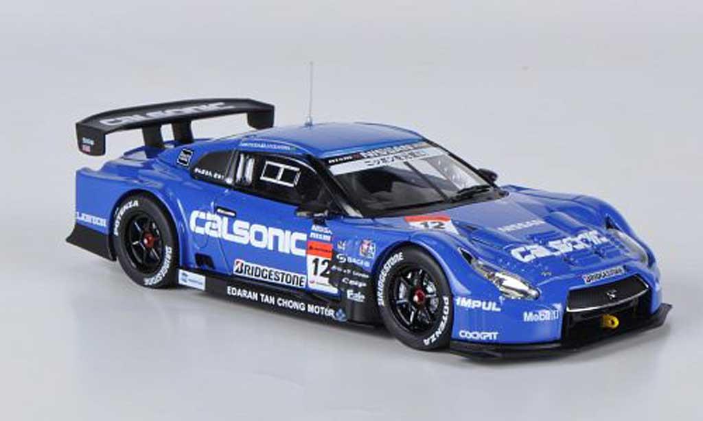 Nissan Skyline 1/43 Ebbro GT-R Calsonic Impul No.12 T.Matsuda / J.P.Oliveira Super GT500 2012 miniature