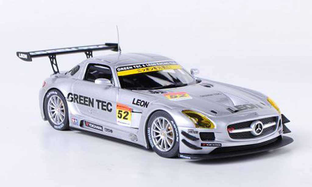 Mercedes SLS 1/43 Ebbro AMG No.52 Green Tec & Leon Super GT300 2012 H.Takeuchi/H.Kurosewa miniature