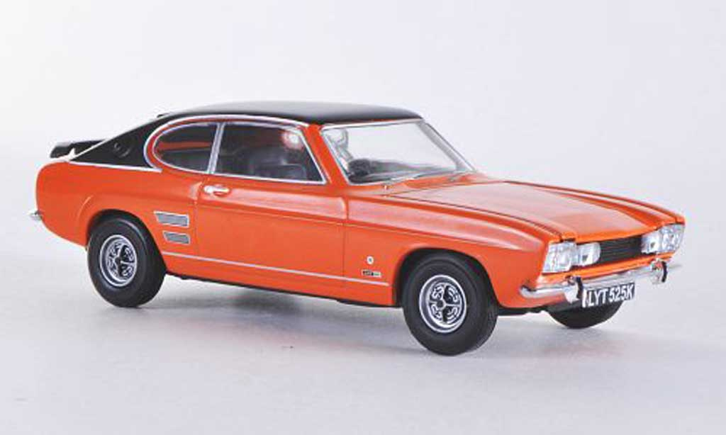Ford Capri 1600 1/43 Vanguards Mk1 GT XLR orange/mattnoire RHD miniature