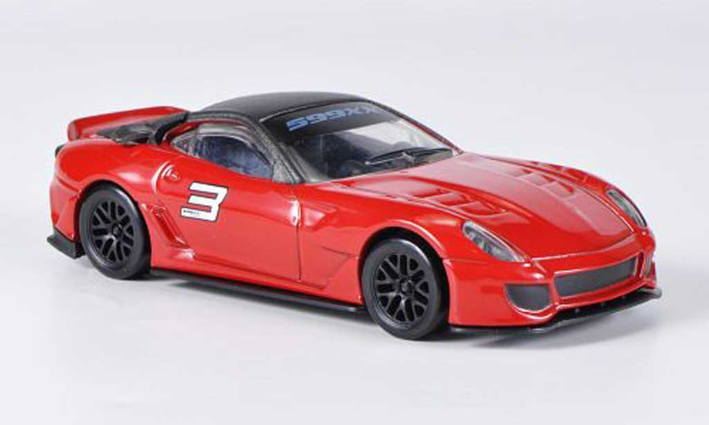 Ferrari 599 XX 1/43 Hot Wheels No.3 rouge/grise miniature