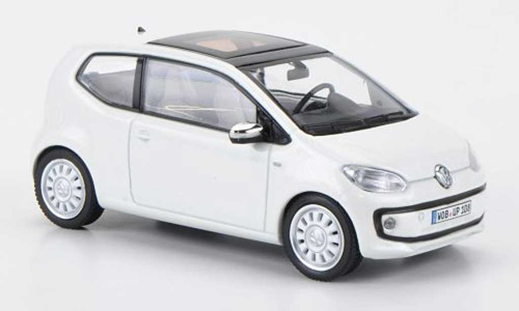 Volkswagen UP! 2011 1/43 Schuco 2011 white blanche miniature