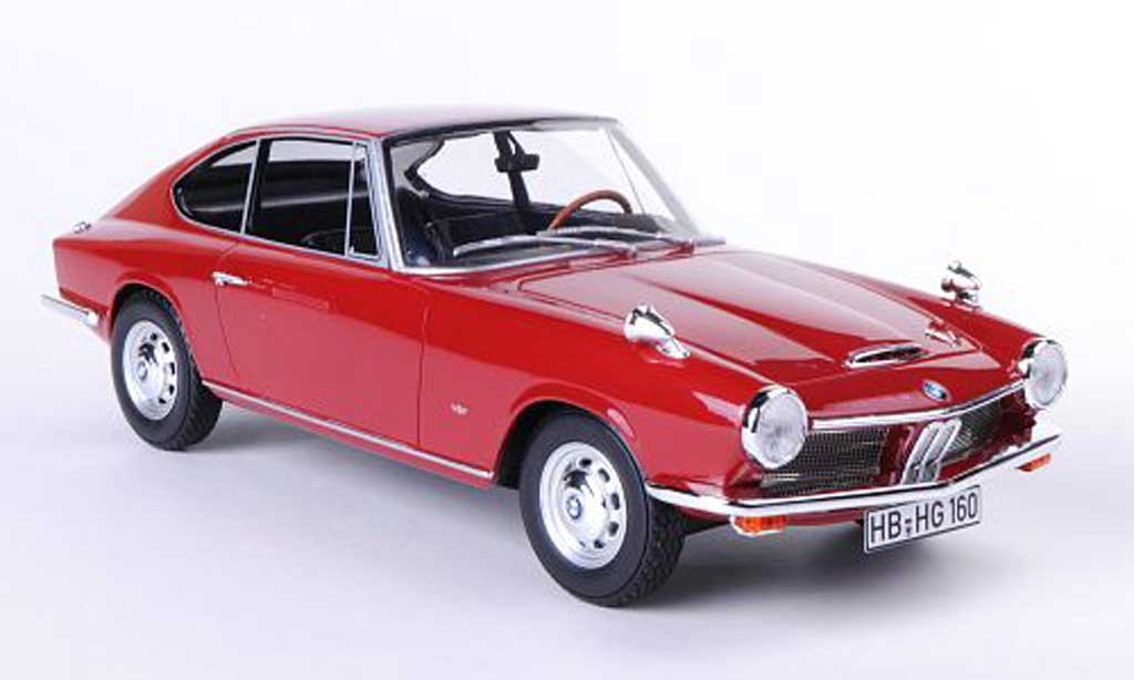 Bmw 1600 GT 1/18 BoS Models rouge 1968 miniature