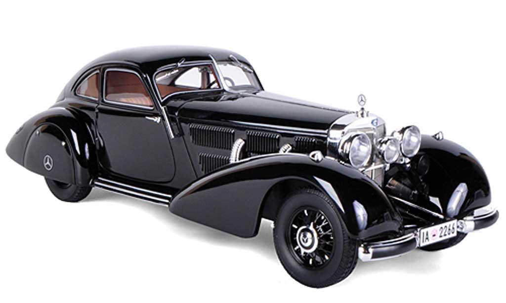 Mercedes 540 K 1/18 BoS Models K Autobahn-Kurier noire limitierte Auflage 2.000 Stuck 1935 miniature
